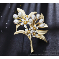 胸针 女 天然淡水珍珠 时尚0优雅 大方气质 礼物