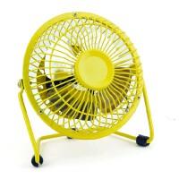 usb迷你风扇静音4寸小风扇 USB桌面散热风扇电风扇 黄色