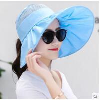 出游帽子新款防晒骑车凉帽青年户外百搭时尚大沿帽可折叠遮阳帽女