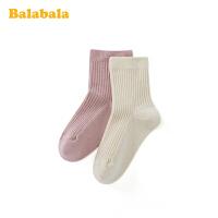 巴拉巴拉袜子冬季男女童长筒袜保暖袜儿童棉袜弹力时尚学生两双装