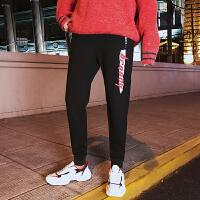 九分裤男潮青少年修身黑色束脚裤男士韩版休闲裤青年运动裤哈伦裤YC-862
