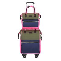 手提拉杆包双肩背万向轮牛津布女学生旅行子母包行李登机箱 20寸(收藏加购*品)