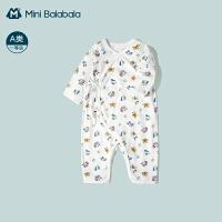 迷你巴拉巴拉新生婴儿衣服2021宝宝连体衣夏季薄款哈衣爬服包屁衣