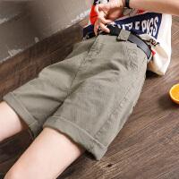 Lee Cooper 休闲短裤女新款夏季韩版显瘦工装直筒裤子大码五分裤子女