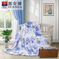 富安娜家纺床上用品纯棉夏被空调被夏季被芯被子薄被子江南春/芳菲四月夏被新品