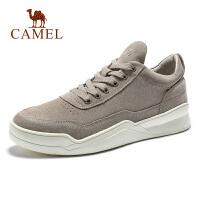 camel骆驼男鞋冬季潮鞋英伦休闲运动鞋2019新款磨砂皮板鞋时尚韩版鞋子