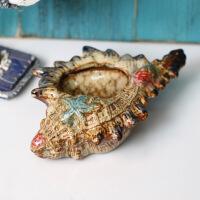 陶瓷海螺装饰摆件烟灰缸烟灰缸 时尚创意个性礼品 大号实用定制精品欧式烟灰缸