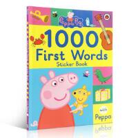 【中商原版】小猪佩奇1000词贴纸书1000 First Words Sticker Books