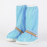 雨天儿童高筒防水防雨鞋套 防滑耐磨加厚雨鞋套孩子 儿童防沙鞋套