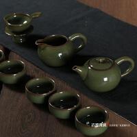 龙泉青瓷仿古釉茶具套装茶壶功夫茶具陶瓷茶杯茶道哥窑开片可养