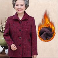 中老年人女装秋冬装外套60-70-80岁奶奶装加绒加厚妈妈老太太上衣