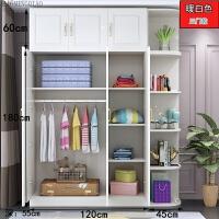 欧式衣柜现代经济型衣柜实木小衣柜234门木质衣柜简易衣柜 欧式暖白+顶柜+角柜