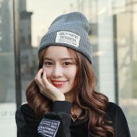 帽子女冬季韩版毛线帽时尚英伦甜美可爱百搭加厚保暖护耳休闲帽
