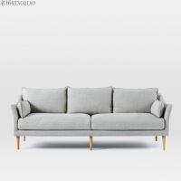 布艺沙发组合简约现代三人可拆洗北欧乳胶小户型沙发客厅整装家具