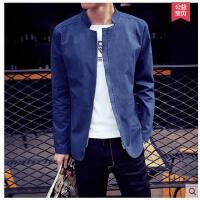 潮流青少年韩版修身印花棒球服外衣男士立领夹克男装休闲外套