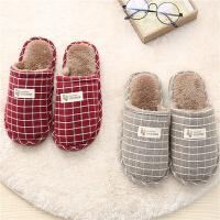 棉拖鞋女冬季秋天情侣保暖家居家用室内毛毛绒可爱托鞋男