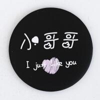 韩国卡通小圆镜随身镜创意*便携化妆镜可爱学生女生小镜子礼品 图片色