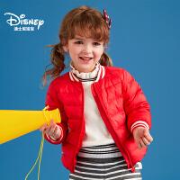 迪士尼宝宝重返学院女童立领轻薄羽绒内胆2018冬款上新