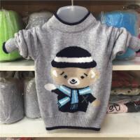 童装男童毛衣儿童羊绒衫加厚宝宝毛衣大童套头保暖羊毛衫2017季