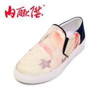 女鞋单鞋春秋时尚休闲大鱼海棠女乐福鞋老北京布鞋 DY6101