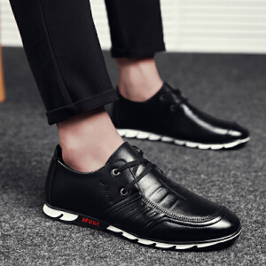 罗兰船长 软面皮鞋商务休闲 黑色* 42D