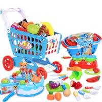 切水果玩具切切乐儿童过家家蔬菜切切看男女孩厨房玩具套装79件装