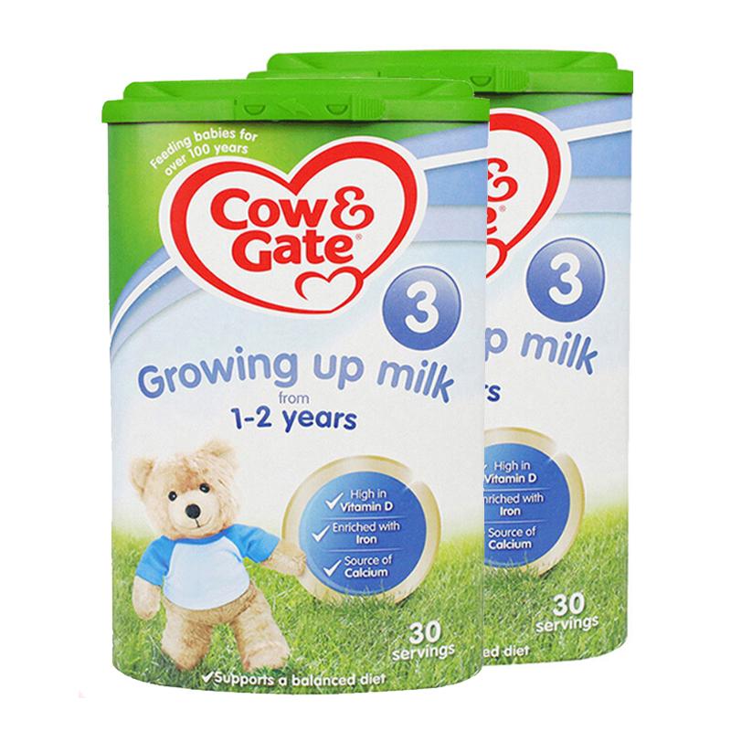 【3段】 保税区发货 英国Cow&Gate牛栏 婴幼儿奶粉 三段(1-2岁) 800g*2罐 海外购