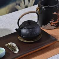 20191218131344449红兔子茶壶0.6梅兰竹铸铁壶泡茶壶煮茶器仿日本手工铁茶壶煮水壶套装仿日本南部生铁壶无涂