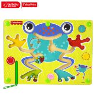 费雪Fisher Price 早教益智磁石玩具运笔迷宫-青蛙木制玩具FP3002