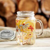 【当当自营】爱屋格林公鸡杯带盖创意玻璃水杯梅森杯子啤酒杯玻璃杯大容量0.8L