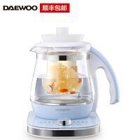 大宇(DAEWOO)家用多功能养生壶玻璃花茶壶办公煮茶器带茶漏大容量 DYYS-S51