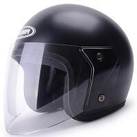 野马607冬季电动车头盔女 四季通用半覆式摩托车安全帽男防雾半盔