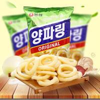 【包邮】韩国进口 农心洋葱圈 洋葱味虾条休闲食品 84g*3袋