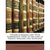【预订】Studies in Roman Law: With Comparative Views of the Law