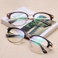 同款眼镜框复古半框金属架超酷配眼镜成品男女款