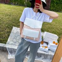 菲姿卓尔女士背包 2020新款春季时尚潮流大容量双肩背包拼色休闲韩版女包