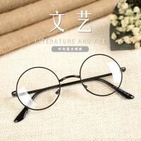 韩版潮流小圆框眼镜个性复古女平光镜舒适学生男可配镜
