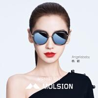 陌森太阳镜女Angelababy同款2018年春夏新款墨镜大框驾驶镜MS6037