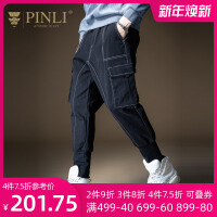 PINLI品立2020秋季新款男�b工�b�多口袋小�_休�e�L�B203417325