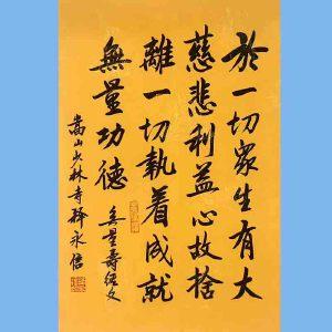第九十十一十二届全国人大代表,少林寺方丈释永信(无量寿经文)