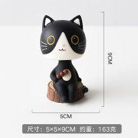 小饰品房摆件创意可爱桌面树脂摆设品龙猫猫咪摆件卡通装饰