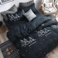 单人床寝室床上3被单床单三件套学生宿舍单人枕套被套被罩2两件套