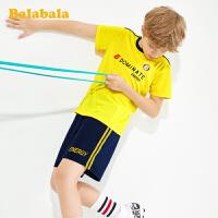 巴拉巴拉儿童套装运动2020新款夏装男大童两件套中大童短袖短裤男