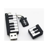 陆捌壹肆 钢琴优盘8G16G32G 迷你可爱创意男女生音乐音符u盘 (一个装)