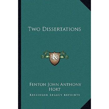 【预订】Two Dissertations 9781162738130 美国库房发货,通常付款后3-5周到货!