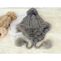 韩版18促销毛线冬季帽子女日系潮流百搭学生可爱护耳帽针织帽 M(56-58cm)