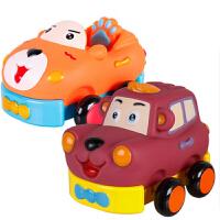 回力车玩具儿童卡通车耐摔迷你大号汽车套装宝宝软胶玩具车
