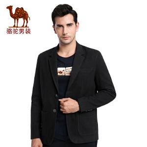 骆驼男装 秋季新款男士时尚外套美式休闲宽松纯色便西单西男