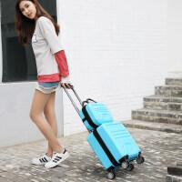 登机箱18寸小型行李箱迷你拉杆箱女士16寸方形旅行箱轻便密码箱