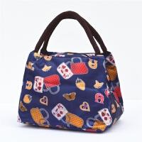 饭盒包手提包防水女包手拎妈咪便当包带饭包牛津布加厚保温饭盒袋